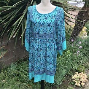 Dresses & Skirts - New:  Turquoise/emerald green DRESS, kimono sleeve